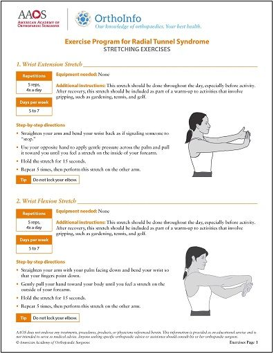 Peachy Radial Tunnel Syndrome Therapeutic Exercise Program Download Free Architecture Designs Scobabritishbridgeorg