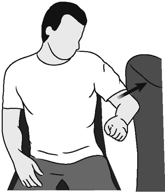 Illustration of shoulder abduction (isometric)