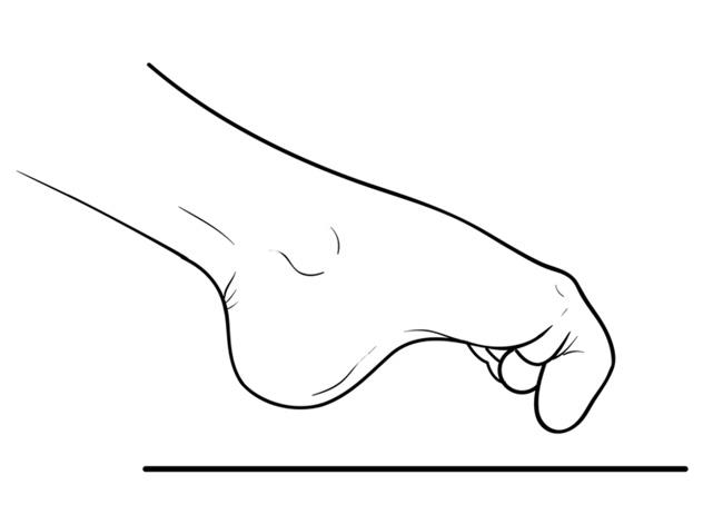 Marble pick-up exercise for foot