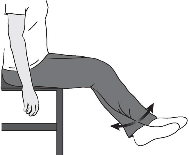 Illustration of sitting supported knee bend