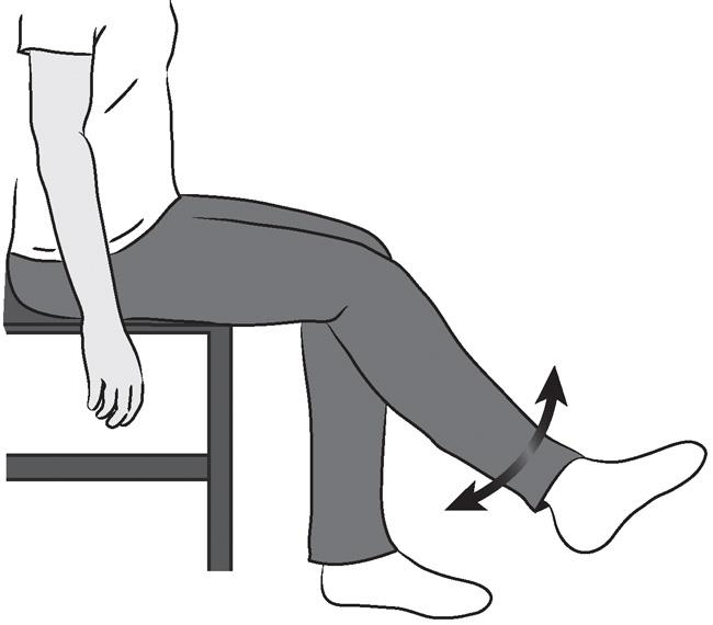 Illustration of sitting unsupported knee bend