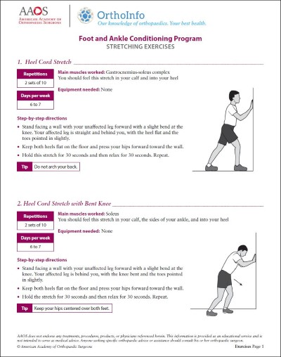 Foot and Ankle Rehabilitation Exercises - OrthoInfo - AAOS