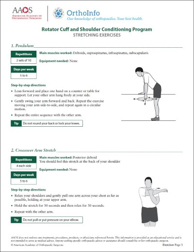 Rotator Cuff And Shoulder Rehabilitation Exercises